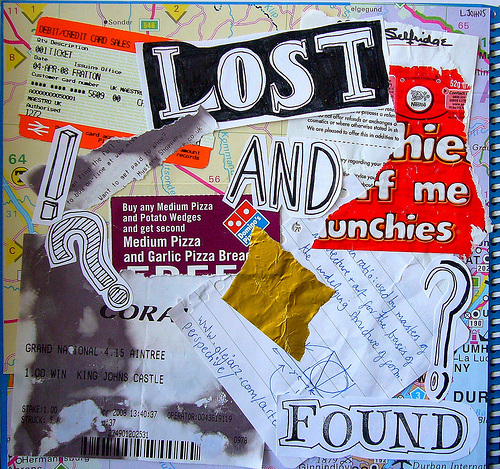 lost and found collage